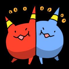 Red ogre and Blue ogre