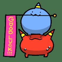 Red ogre and Blue ogre sticker #660276