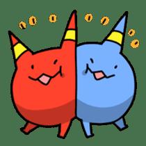 Red ogre and Blue ogre sticker #660299