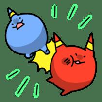 Red ogre and Blue ogre sticker #660301