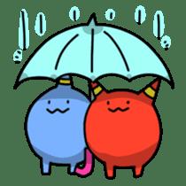 Red ogre and Blue ogre sticker #660303