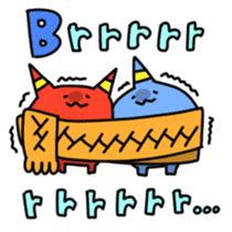 Red ogre and Blue ogre sticker #660304