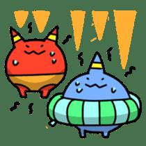 Red ogre and Blue ogre sticker #660305