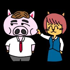 nikuziru-kun!(an office worker pig)