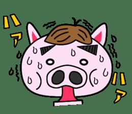 nikuziru-kun!(an office worker pig) sticker #661180