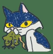 Masked cat sticker #661446