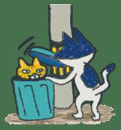 Masked cat sticker #661460