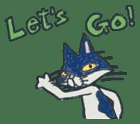 Masked cat sticker #661461