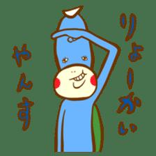 Blue Kappa sticker #662662