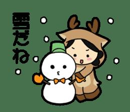 nara stamp in winter sticker #664595