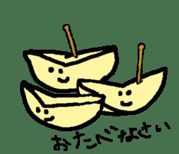 """""""apo-san"""" the apple sticker #665117"""
