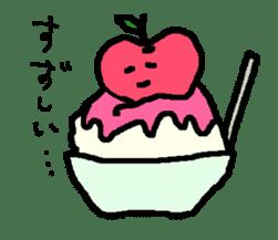 """""""apo-san"""" the apple sticker #665132"""