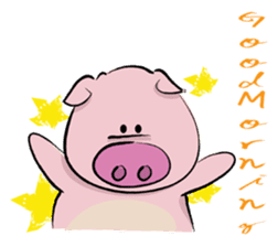 Pigly and friends sticker #665386