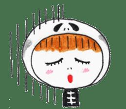Skeleton MOON sticker #665674