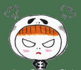 Skeleton MOON sticker #665676