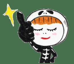 Skeleton MOON sticker #665679