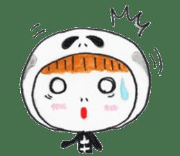 Skeleton MOON sticker #665684