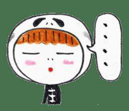 Skeleton MOON sticker #665688