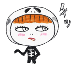 Skeleton MOON sticker #665693