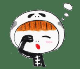 Skeleton MOON sticker #665696