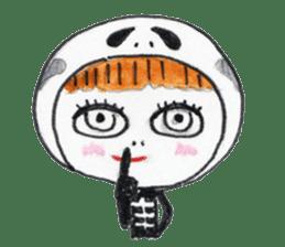 Skeleton MOON sticker #665697