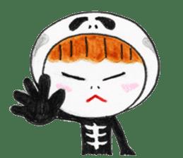 Skeleton MOON sticker #665699