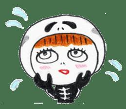 Skeleton MOON sticker #665700