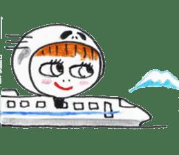 Skeleton MOON sticker #665705