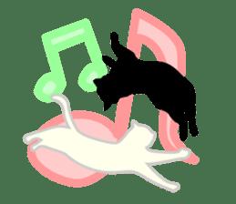B&W Cats sticker #665870