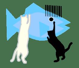 B&W Cats sticker #665875