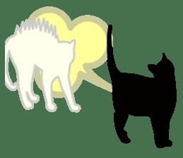 B&W Cats sticker #665884