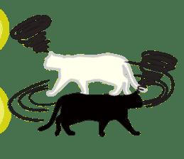 B&W Cats sticker #665887