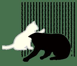 B&W Cats sticker #665892