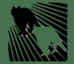 B&W Cats sticker #665894