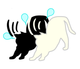 B&W Cats sticker #665898