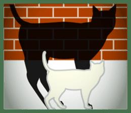 B&W Cats sticker #665899