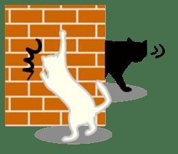 B&W Cats sticker #665900