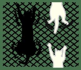 B&W Cats sticker #665903