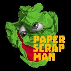 paper scrap man