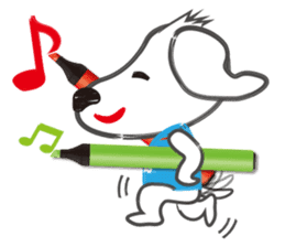 "Pen Dog ""Rasso"" sticker #666439"