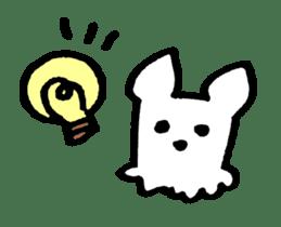 White dog sticker #667026