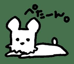 White dog sticker #667029
