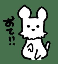 White dog sticker #667030