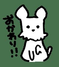 White dog sticker #667031