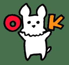 White dog sticker #667032