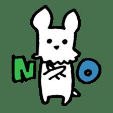 White dog sticker #667033