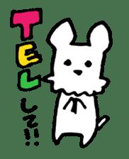 White dog sticker #667037