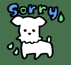 White dog sticker #667039
