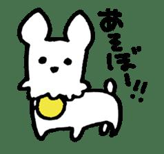 White dog sticker #667040