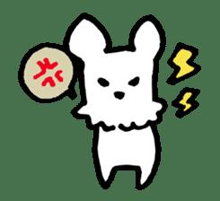 White dog sticker #667041